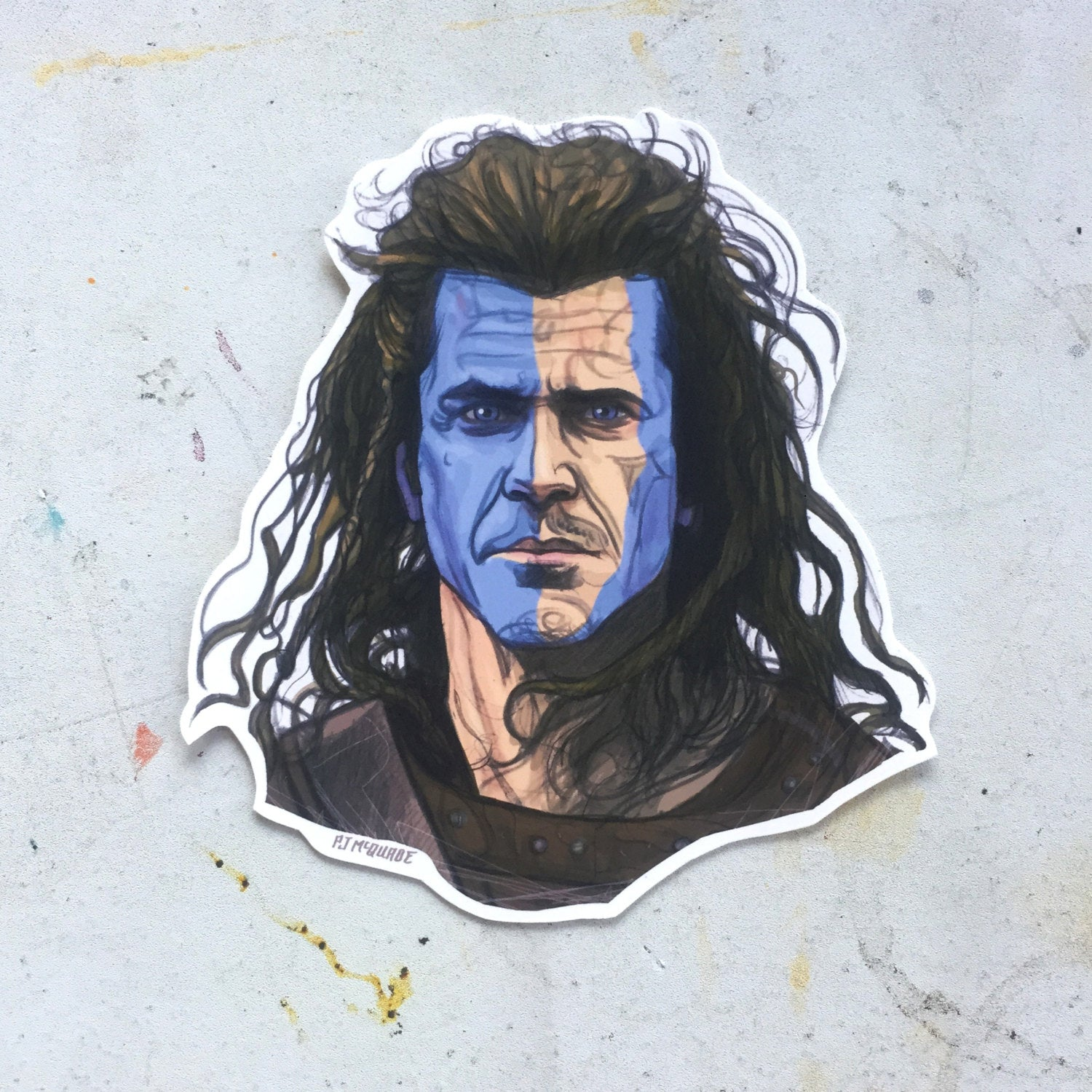 BRAVEHEART Waterproof Sticker