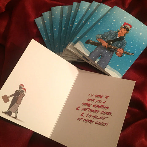 10 PACK THEY LIVE Christmas CARDS!