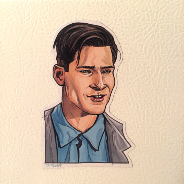 GEORGE McFLY BACK to the FUTURE Fridge Magnet!