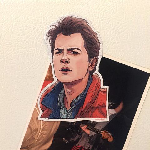 MARTY McFLY Back to the Future FRIDGE MAGNET!