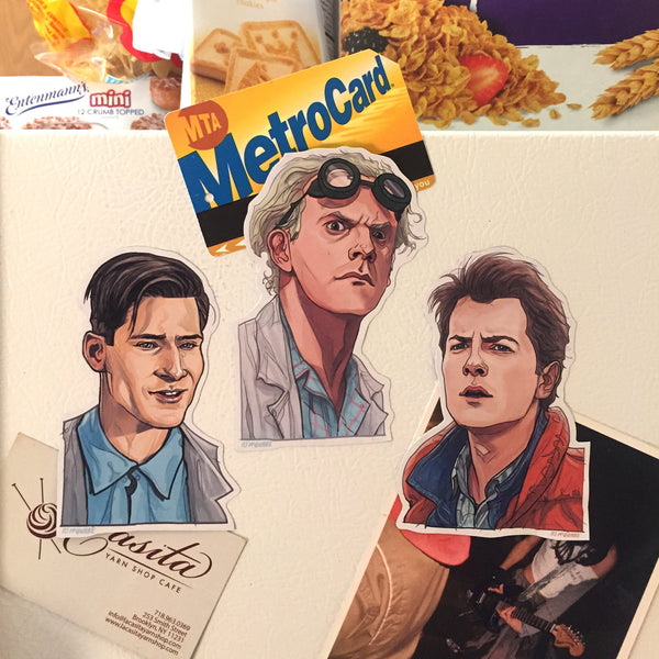 BACK to the FUTURE Fridge Magnet 3 Pack SET!