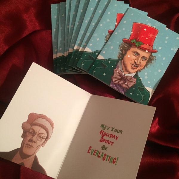 10 PACK Willy Wonka Christmas Cards