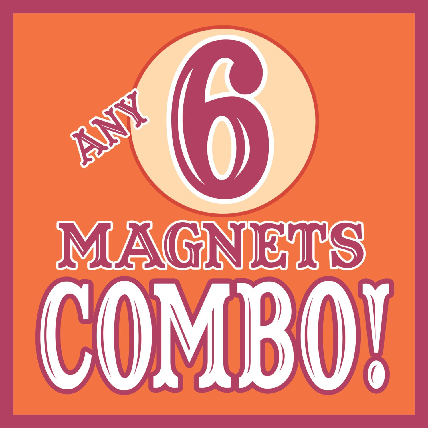 ANY 6 Magnets Discount COMBO!