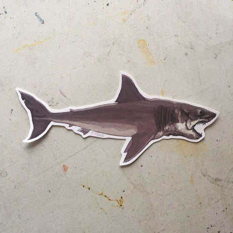 JAWS SHARK Waterproof STICKER!