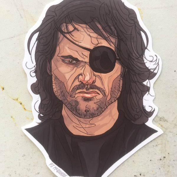 Snake Plissken KURT RUSSELL Waterproof STICKER!