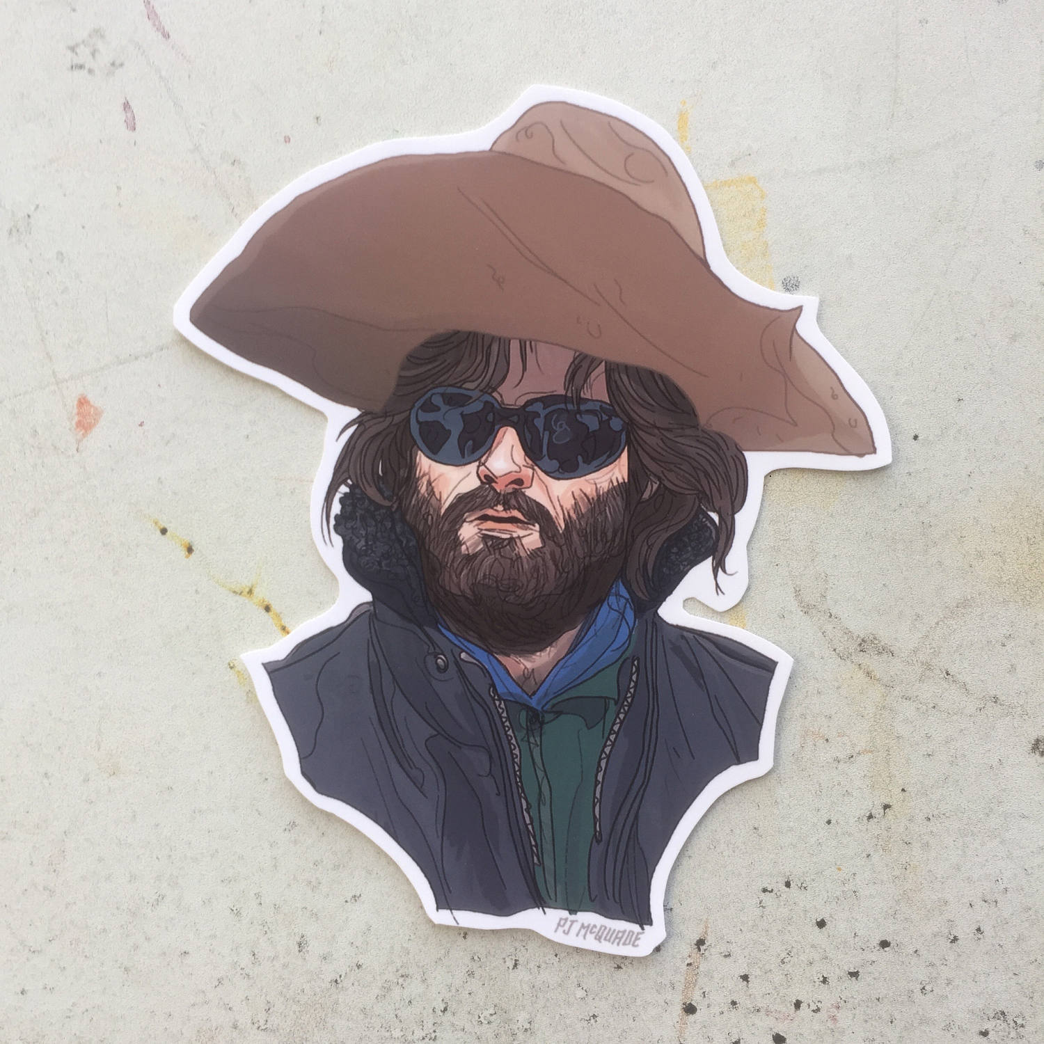 MacReady KURT RUSSELL The Thing Waterpoof STICKER!