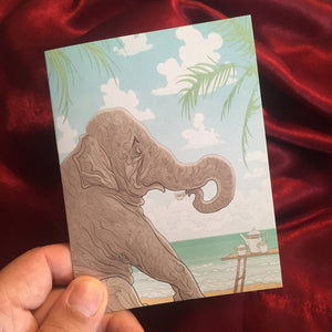 ELEPHANT'S TEACUP greeting card