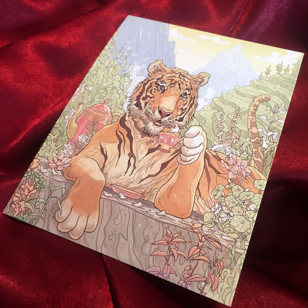 TIGER'S CHAI Greeting Card