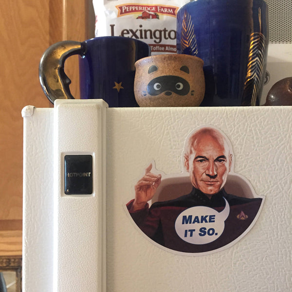 PICARD Star Trek FRIDGE MAGNET!
