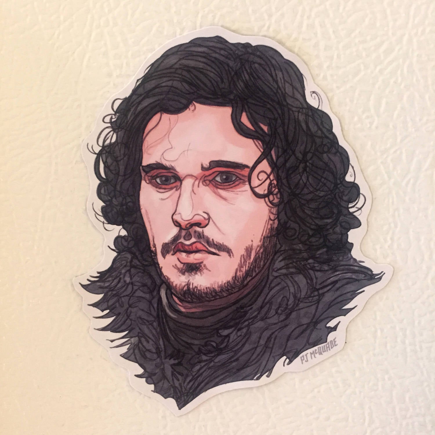Jon Snow GAME of THRONES Fridge MAGNET!
