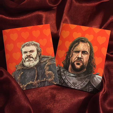 GAME of THRONES Valentine's Day Card 2 Pack COMBO!