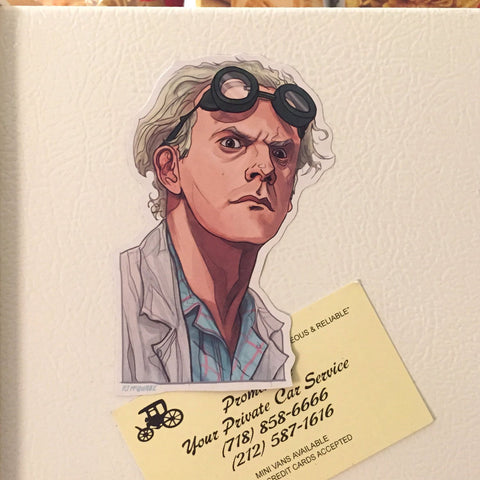 DOC BROWN BACK to the FUTURE Fridge MAGNET!