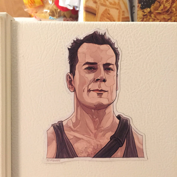 John McClane DIE HARD Fridge MAGNET!