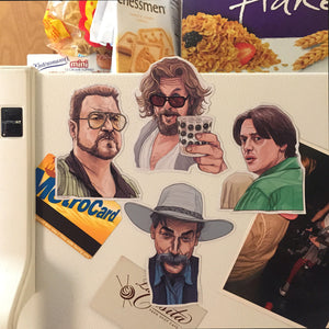The BIG LEBOWSKI Fridge Magnet COMBO Set!