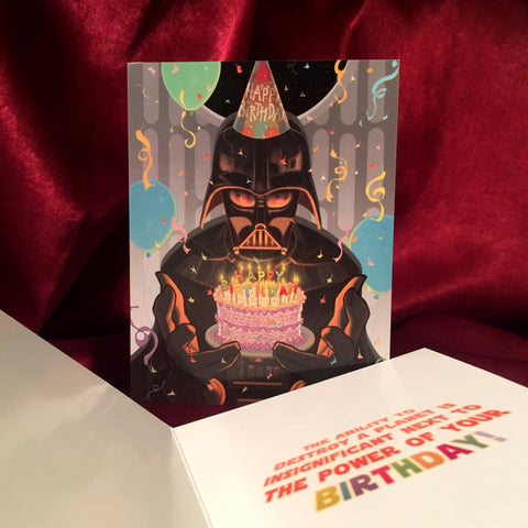 Darth Vader BIRTHDAY CARD!