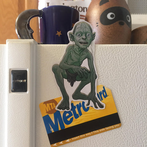 GOLLUM Lord of the Rings FRIDGE MAGNET!