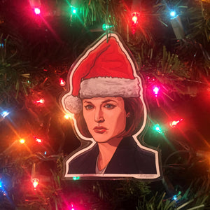 Dana Scully X-FILES CHRISTMAS ORNAMENT!