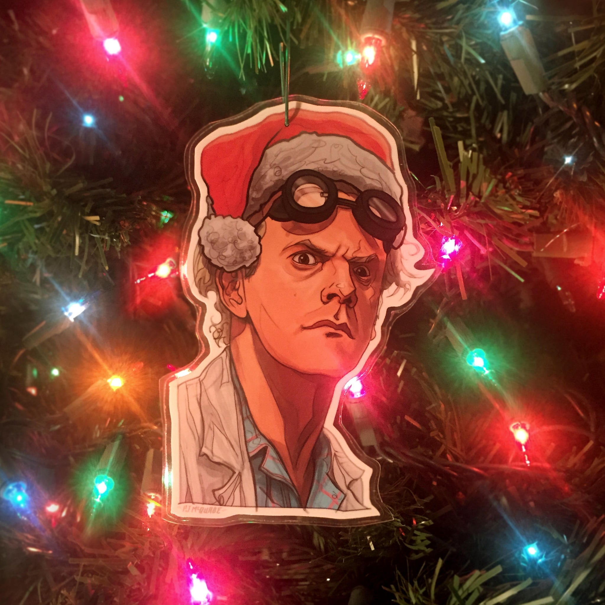 Doc Brown BACK to the FUTURE Christmas ORNAMENT!