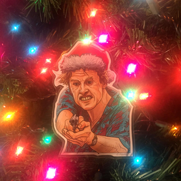 Gary Busey POINT BREAK Christmas ORNAMENT!