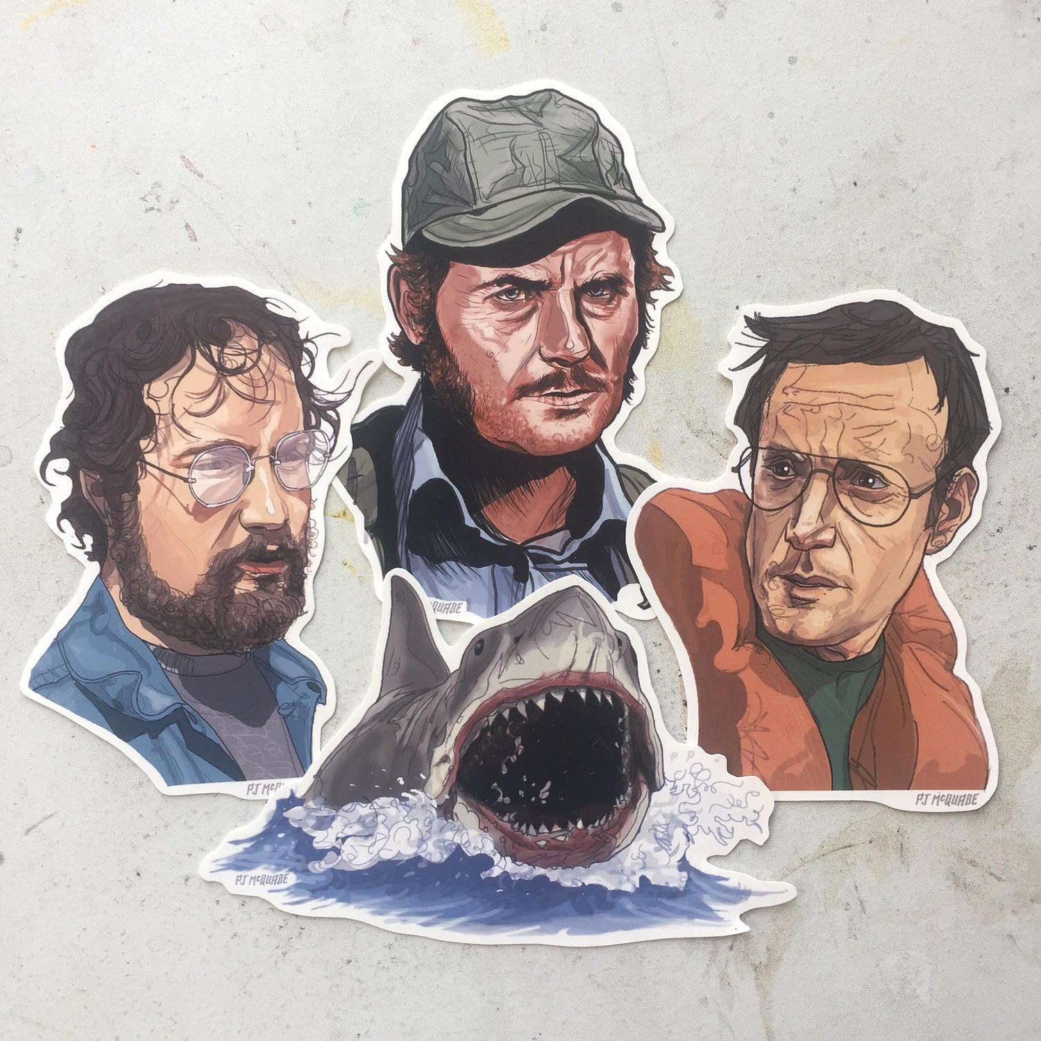JAWS 4 Pack STICKER SET!