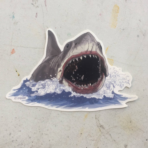 JAWS Open Mouth STICKER!