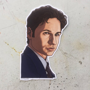 Fox Mulder X-FILES STICKER!