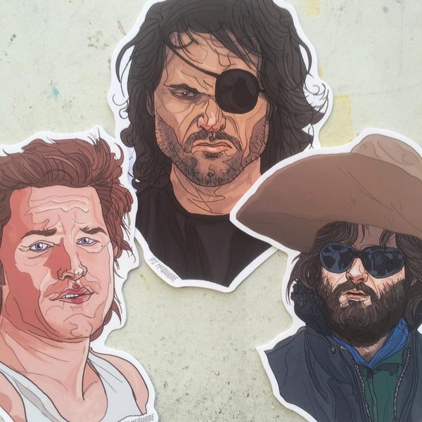 KURT RUSSELL 3 Pack Sticker SET!