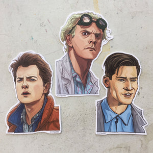 BACK to the FUTURE Waterproof Sticker SET!