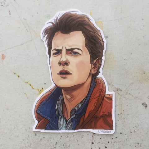 GEORGE McFLY BACK to the FUTURE Marty McFly STICKER!