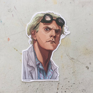 DOC BROWN Back to the FUTURE Brown Sticker!