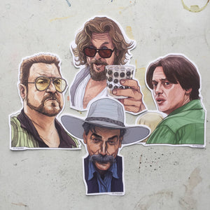 The BIG LEBOWSKI Sticker 4 Pack SET!