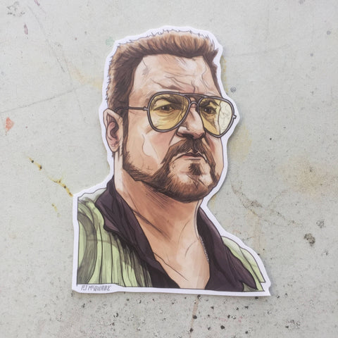 WALTER The Big Lebowski STICKER!