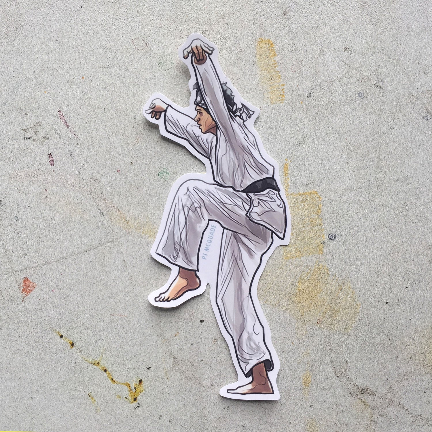 The KARATE KID Daniel LaRusso STICKER