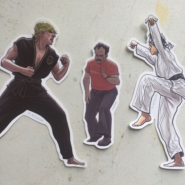 The KARATE KID Sticker Combo SET!