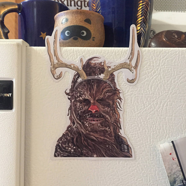 Chewbacca The Red Nosed Reindeer STAR WARS CHRISTMAS Fridge MAGNET!