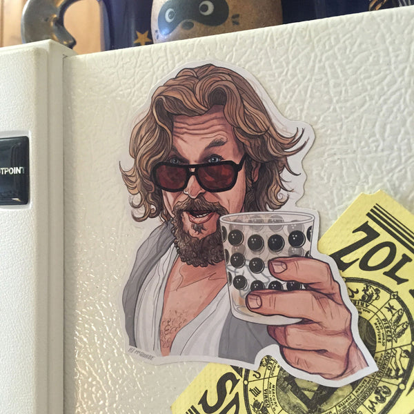 THE DUDE The Big Lebowski Fridge MAGNET!