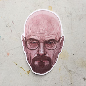 Walter White BREAKING BAD Waterproof STICKER!