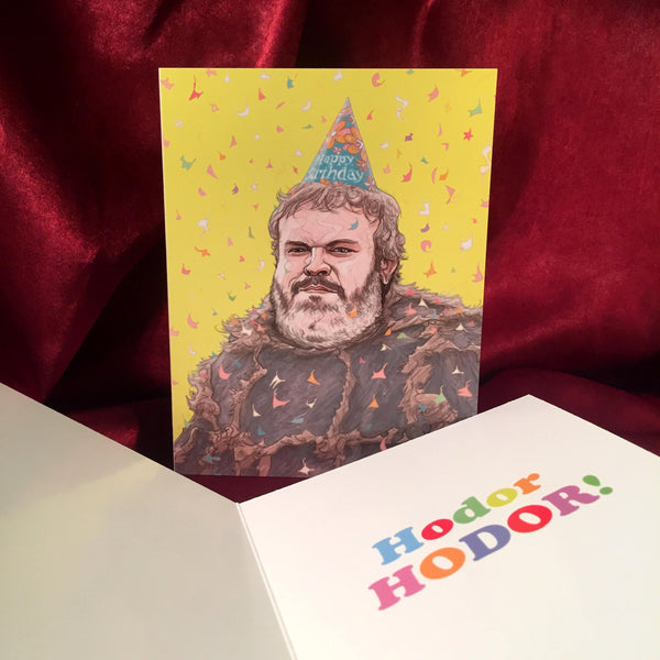 HODOR Game of Thrones BIRTHDAY CARD