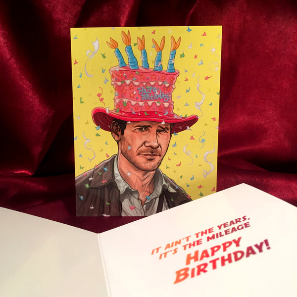 INDIANA JONES Birthday Card!