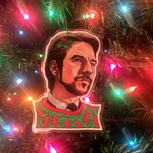 Hans Gruber DIE HARD Christmas ORNAMENT!