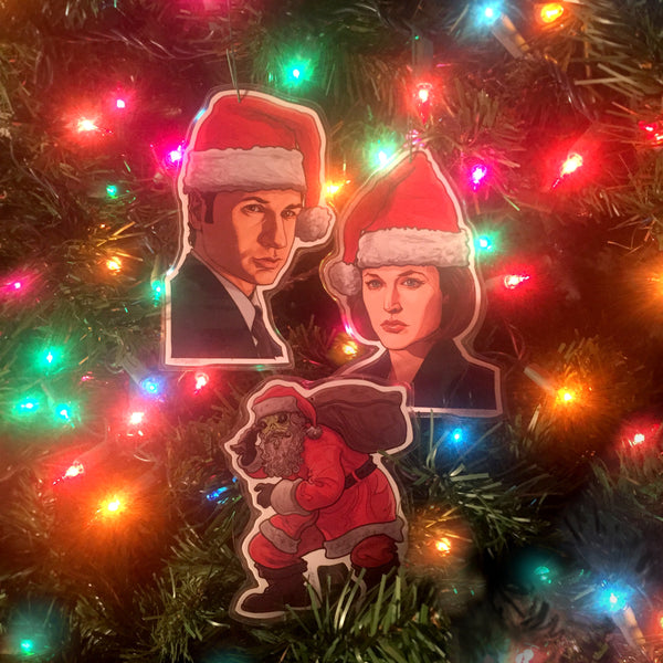 X-FILES Christmas ORNAMENT 3 Pack COMBO!!