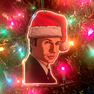 Fox Mulder X-FILES CHRISTMAS ORNAMENT!