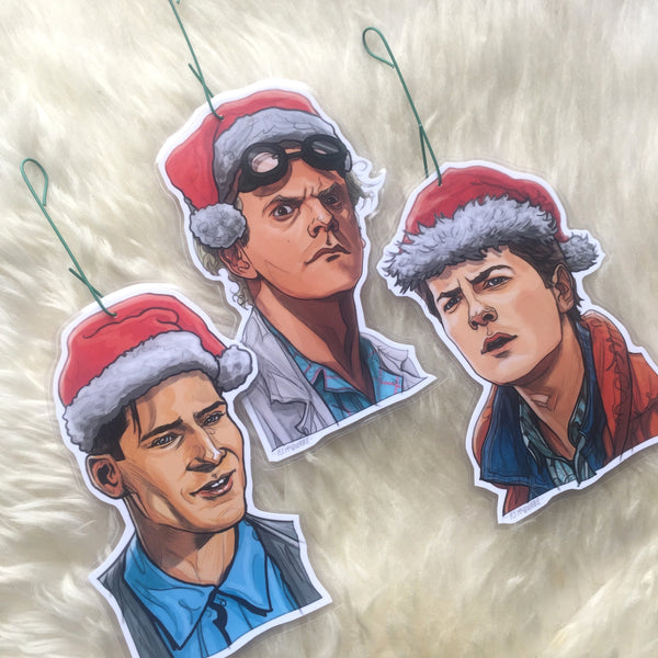 BACK to the FUTURE Christmas Ornament 3 Pack COMBO!