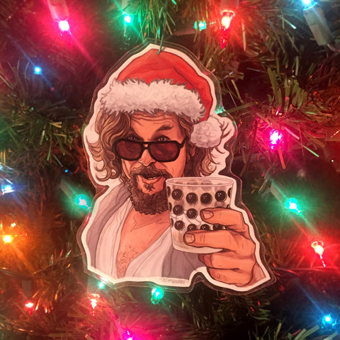 The Dude BIG LEBOWSKI Christmas ORNAMENT!