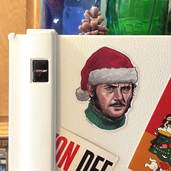 QUINT JAWS Christmas Holiday Fridge Magnet!