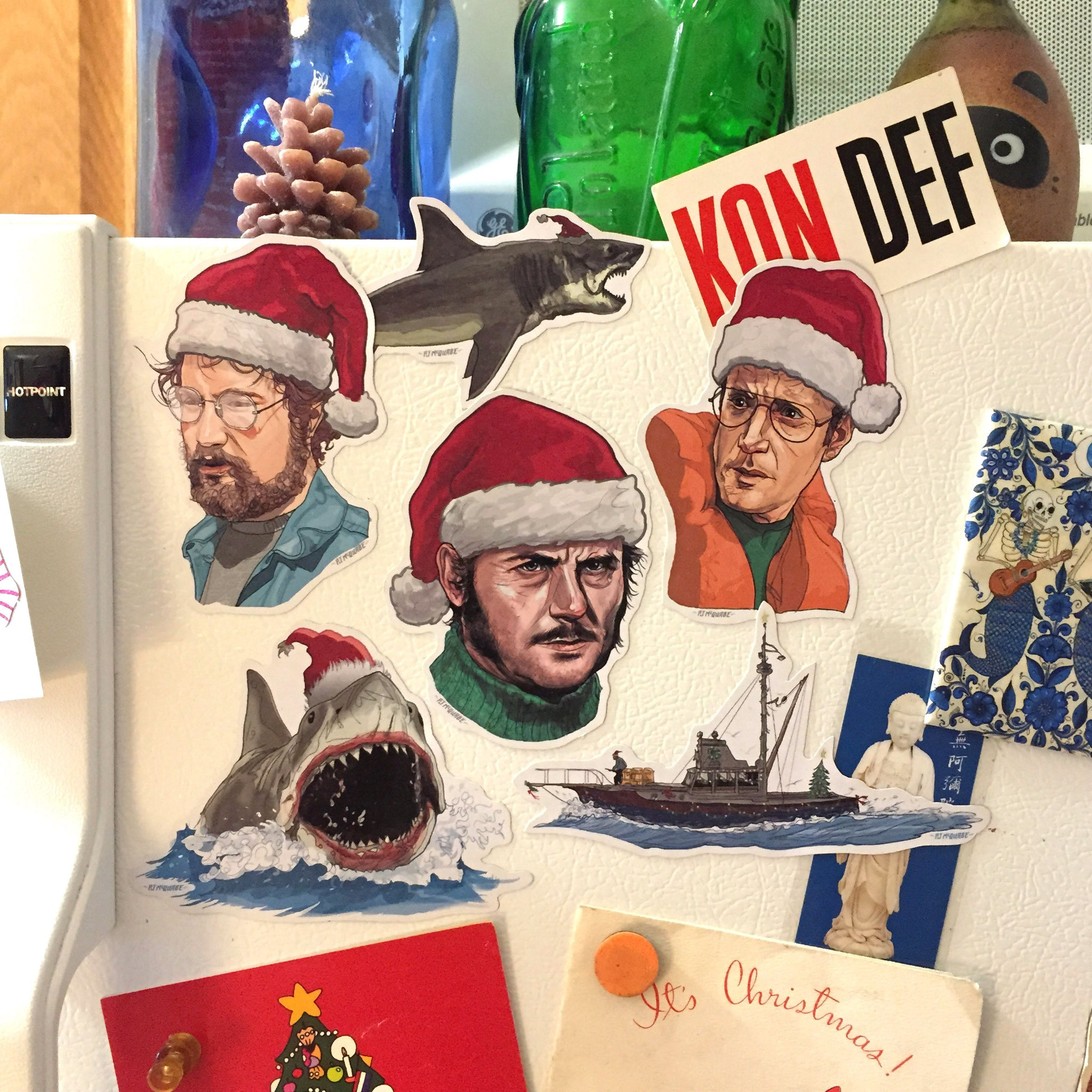 JAWS Christmas Fridge Magnet SET!