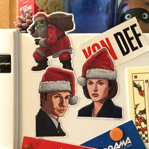 X-FILES Christmas Fridge Magnet SET!