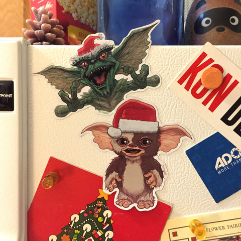 GREMLINS Christmas Fridgge Magnet SET!