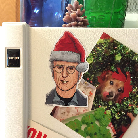 LARRY DAVID Christmas Fridge MAGNET!