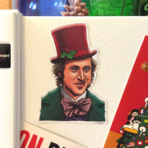WILLY WONKA Christmas Fridge MAGNET!